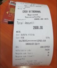 Equity Bank debit card